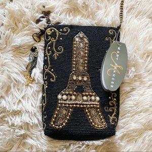 NWT Mary Frances Eiffel Tower Beaded Crossbody Bag